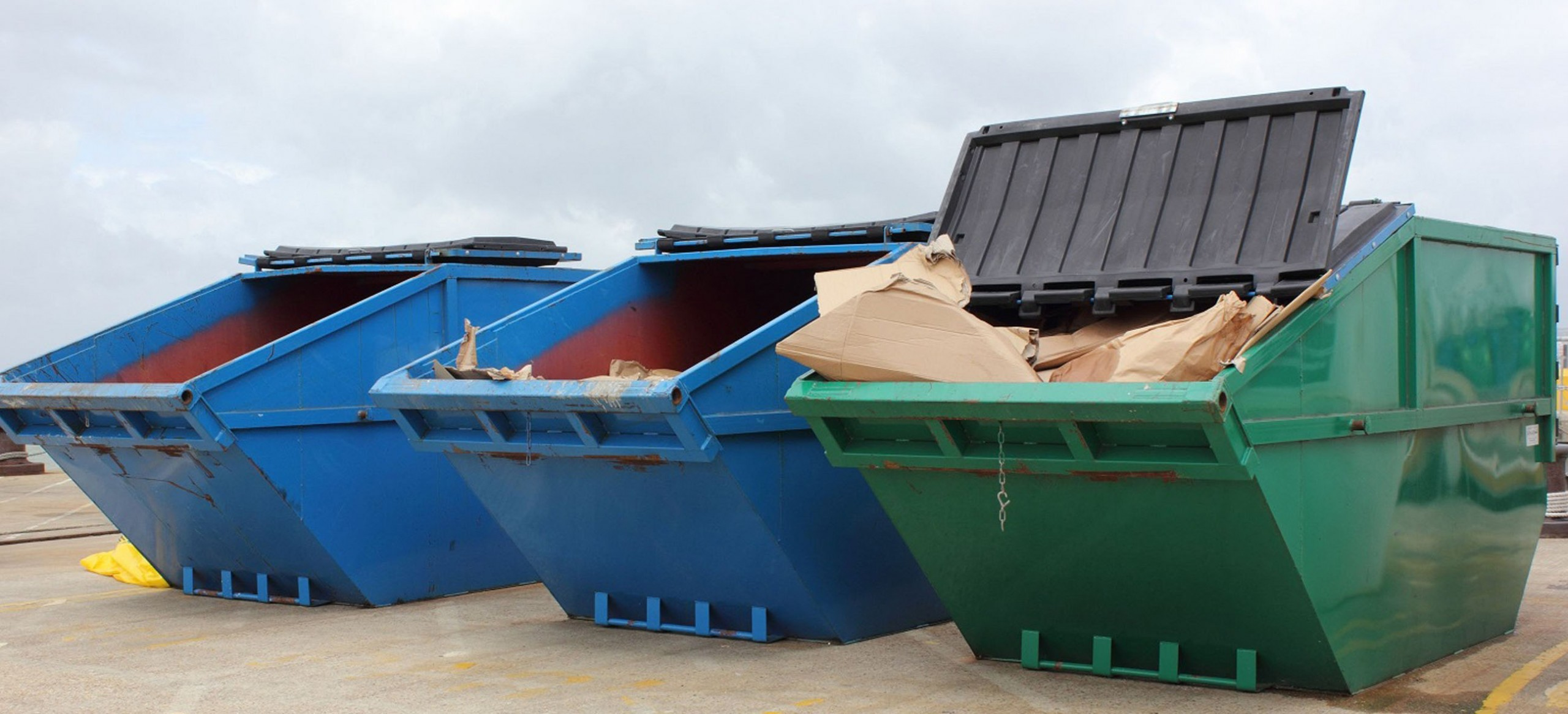 Large used skips